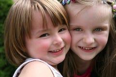 Duas meninas felizes. fotografia de stock royalty free
