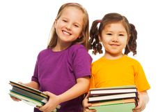 Miúdos prées-escolar felizes Fotografia de Stock Royalty Free