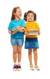Duas meninas inteligentes felizes Imagem de Stock Royalty Free