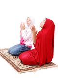 Duas meninas muçulmanas pequenas Fotos de Stock