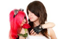 Duas meninas no estúdio Fotos de Stock