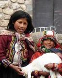 Duas meninas peruanas Fotografia de Stock