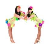 Duas mulheres 'sexy' do dançarino Imagens de Stock Royalty Free