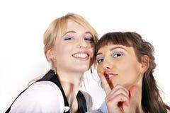 Duas meninas 'sexy' e sorrindo bonitas Fotografia de Stock