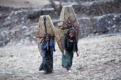 Duas meninas tibetanas foto de stock royalty free
