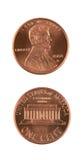 Duas moedas de um centavo Fotografia de Stock