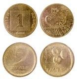 Duas moedas velhas de Israel Fotos de Stock Royalty Free