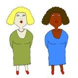 Duas mulheres ilustração stock
