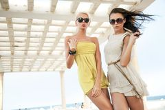 Duas mulheres adoráveis Fotografia de Stock