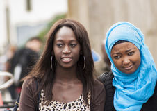 Duas mulheres africanas 'sexy' não identificadas Imagens de Stock
