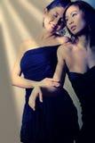 Duas mulheres asiáticas bonitas imagem de stock