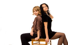 Duas mulheres bonitas de riso Foto de Stock