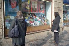 Livrarias em Praga Imagem de Stock Royalty Free