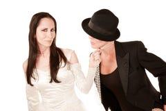 Duas mulheres como a noiva e o noivo Imagem de Stock
