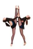 Duas mulheres da flexibilidade foto de stock