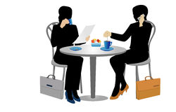 Duas mulheres de negócios ilustração royalty free