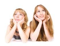 Duas mulheres de sonho fotos de stock royalty free