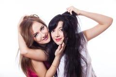 Duas mulheres de sorriso. Foto de Stock