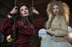 Duas mulheres encantadoras imagem de stock royalty free