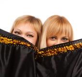 Duas mulheres felizes Fotografia de Stock
