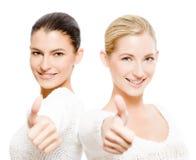 Duas mulheres felizes foto de stock royalty free