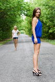 Duas mulheres novas Fotografia de Stock Royalty Free