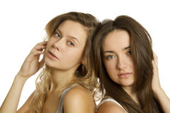 Duas mulheres novas bonitas Foto de Stock Royalty Free