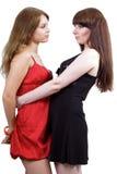 Duas mulheres novas da beleza fotografia de stock royalty free