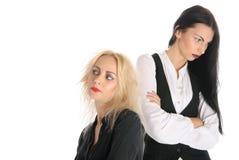 Duas mulheres ofendidas Fotografia de Stock