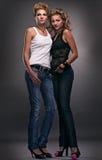 Duas mulheres 'sexy' Fotografia de Stock Royalty Free
