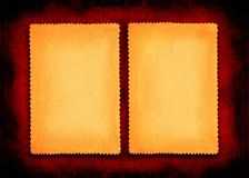 Duas páginas do papel do grunge Imagem de Stock