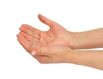 Duas palmas da mão Fotografia de Stock Royalty Free