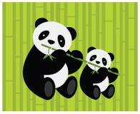Duas pandas. Fotografia de Stock Royalty Free