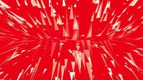Duas partículas de voo dos sentidos no vermelho ilustração stock