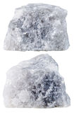 Duas partes da pedra mineral de mármore isolada fotografia de stock royalty free