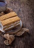 Duas partes de bolo caseiro doce Foto de Stock Royalty Free