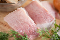 Duas partes de carne crua, carne Foto de Stock Royalty Free