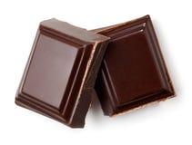 Duas partes de chocolate escuro imagem de stock
