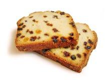 Duas partes de fruitcake Foto de Stock