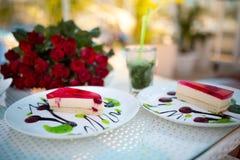 Duas partes de torta Imagens de Stock