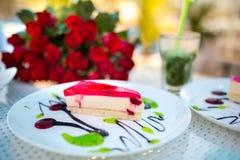 Duas partes de torta Fotografia de Stock Royalty Free
