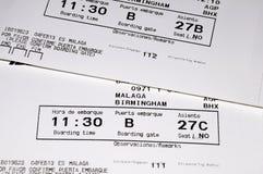 Passagens de embarque dos aviões. imagens de stock