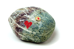 Duas pedras com coração. Foto de Stock