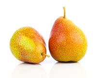 Duas peras amarelas imagem de stock royalty free