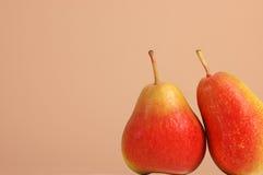 Duas peras de Forelle Fotos de Stock