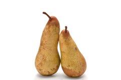 Duas peras isoladas em um fundo branco Foto de Stock