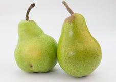 Duas peras no branco Fotos de Stock