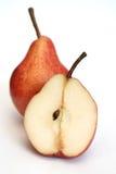 Duas peras vermelhas Fotos de Stock Royalty Free