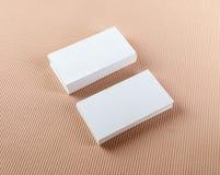 Duas pilhas de cartões Fotografia de Stock Royalty Free