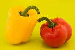Duas pimentas Foto de Stock Royalty Free